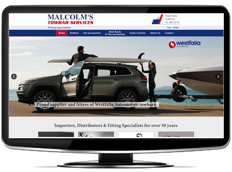 Malcolms Towbars Website